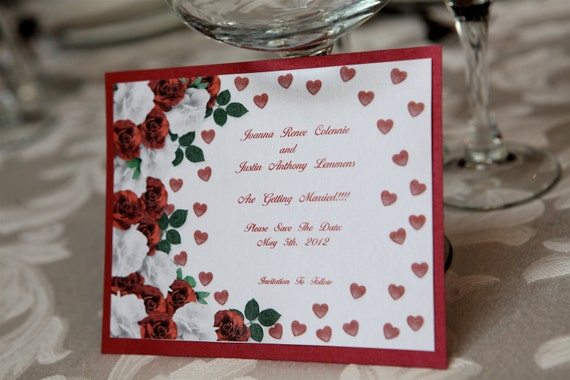 Floral background save the date cards