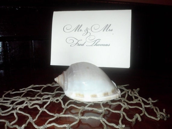 Beach Theme Seashell Escort Cards/Place Cards, Hamptons Style