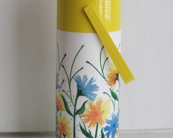 Retro Floral Pump-A-Drink Thermos