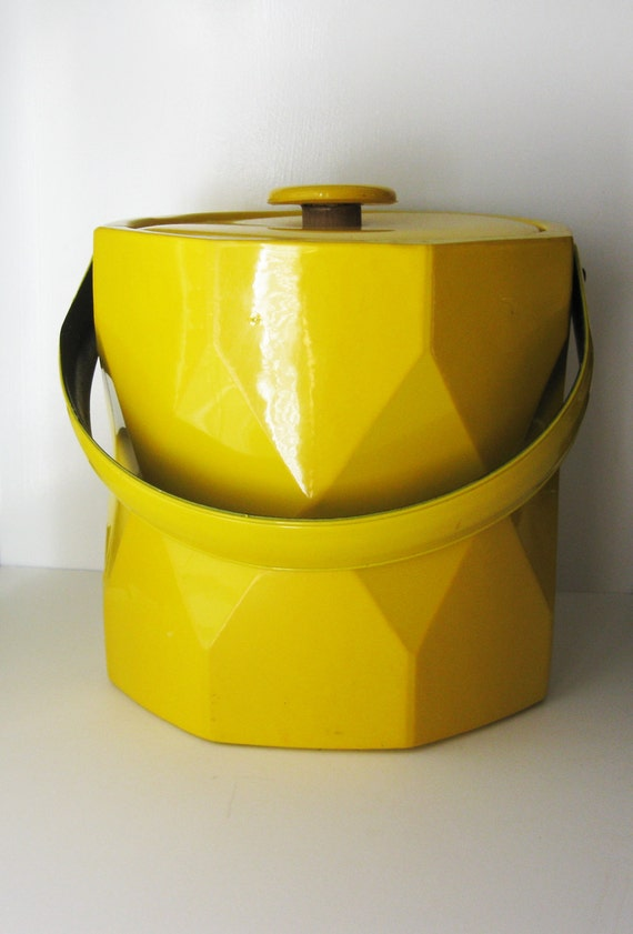 Mod Ice Bucket Yellow Vinyl