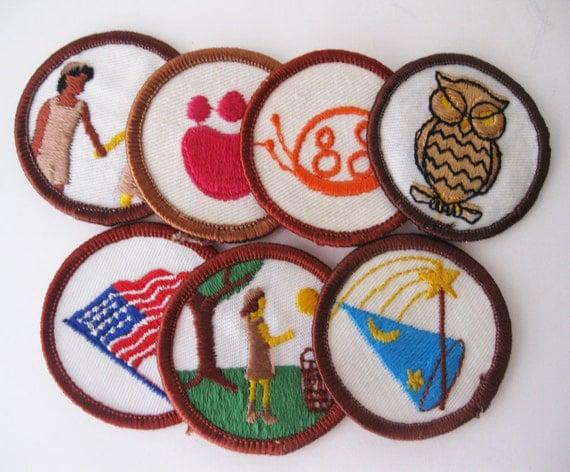 Vintage Girl Scouts Badges