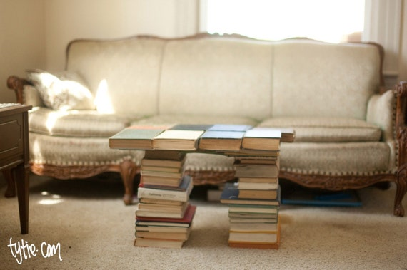 Coffee table - made from books