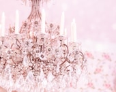 Paris Photography - There is Always Light in Paris - Paris Decor,  Pink Chandelier, French Fine Art Travel Photograph, Large Wall Art