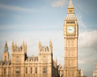 London Photograph - Big Ben, Houses of Parliament, England Travel Photo, Home Decor, Large Wall Art