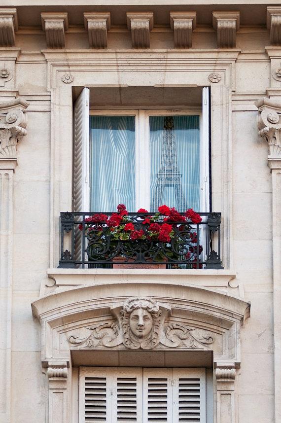 Paris Photo - Paris Reflections - Fine art travel photograph, Paris, France, Window, Eiffel Tower, urban architecture, decor