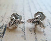 Bumble Bees - Sterling Silver Post Earrings