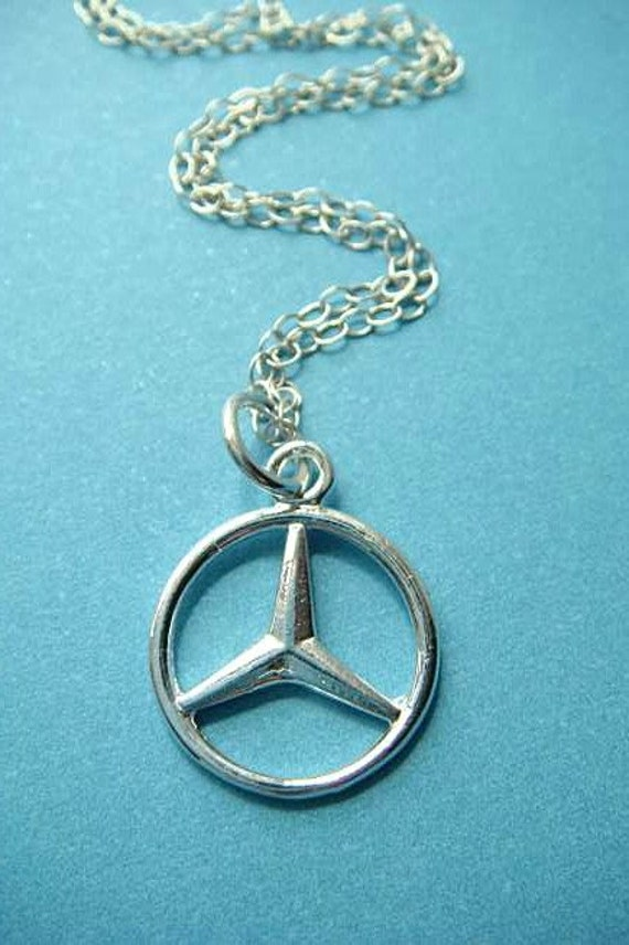 Mercedes benz emblem sterling silver charm comes by charms4you for Mercedes benz pendant