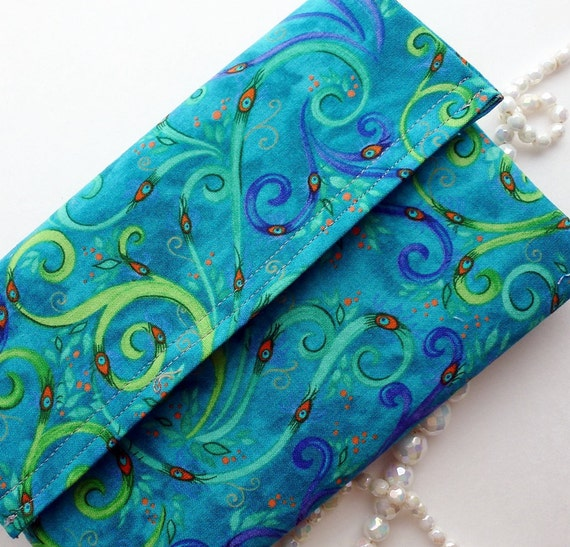 Jewelry case for travel Size medium, blue teal green