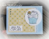 Seize the Cupcake  Handcrafted Card