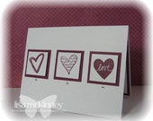 Three of Hearts --Handcrafted