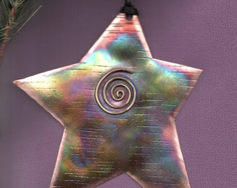 Handcrafted Copper Star Ornament