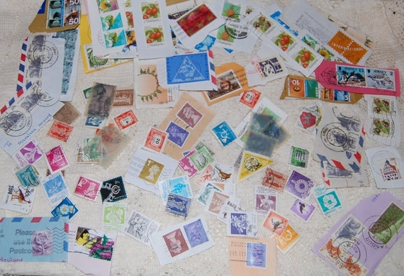 Postage due... I hope not...  Big assortment of stamps