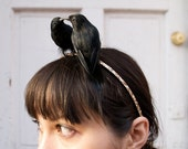 Lovebirds two blackbirds Perch Headband Sparrow Wonder Alice Band