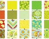 YOU DESIGN Custom 3 piece Crib Bedding Set - Bumper, Skirt and Sheet Heather Bailey Pop Garden