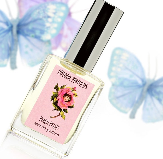 PEACH PETALS tm Perfume Spray Delicious and Ripe MELODIE PERFUMES