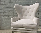 reserved... mid century wingback tufted ROMA chair ...sale