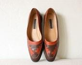 s a l e . woven navajo loafers shoes hushpuppies sz 9