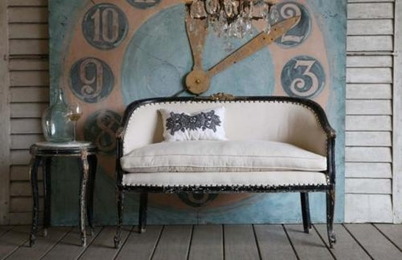 reserved.........antique gilt-trimmed COCO settee