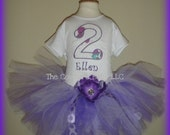 BARNEY BIRTHDAY TUTU Set Onesie T-shirt Boutique Bow