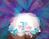 First Second Third Birthday Design your own Boutique Bow Diaper COVER BLOOMERS