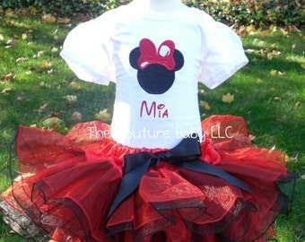 Minnie Black and Red Polka Dot Personalized Shirt  1st 2nd 3rd 4th 5th Birthday