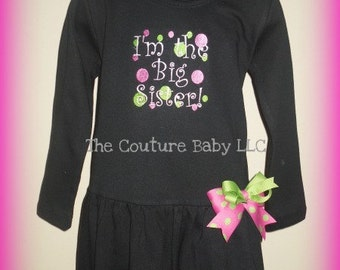 I'm The Big Sister Personalized Dress