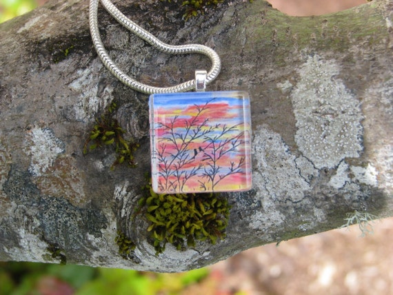 Sharing A Moment--Glass Pendant