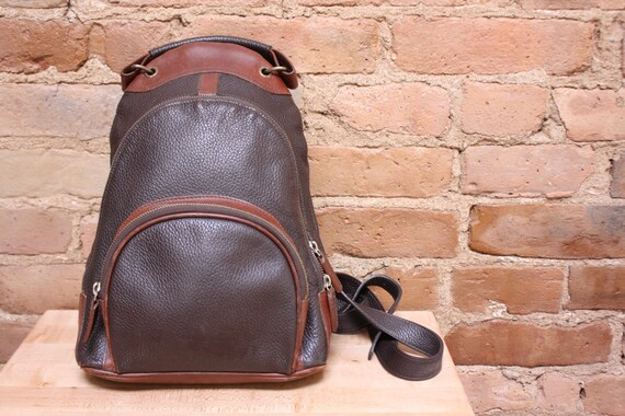 Brown Leather M London Mini Backpack