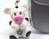 Mrs Moo - Cow Polymer Clay Mobile Charm
