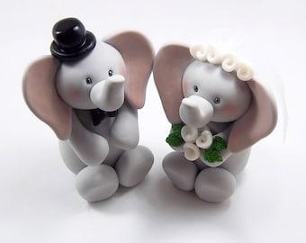 Elephant Cake Topper, Wedding Cake Topper, Bride and Groom, Wedding Decoration