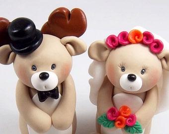 Wedding Cake Topper, Deer Cake Topper, Custom Figurine, Woodland Cake Decoration