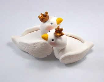 Swan Cake Topper, Wedding Cake Topper, Custom Figurine