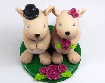 Kangaroo Cake Topper, Custom Wedding Cake Topper, Personalized Figurines, Bride and Groom, Wedding Decoration, Clay Sculpture