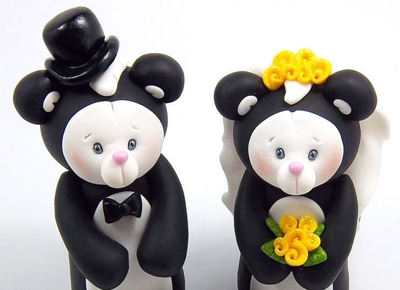 wedding cake toppers personalized figurines personalized figurines custom wedding cake topper skunks 26575