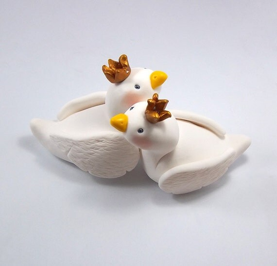 Swan Cake Topper, Wedding Cake Topper, Custom Figurine