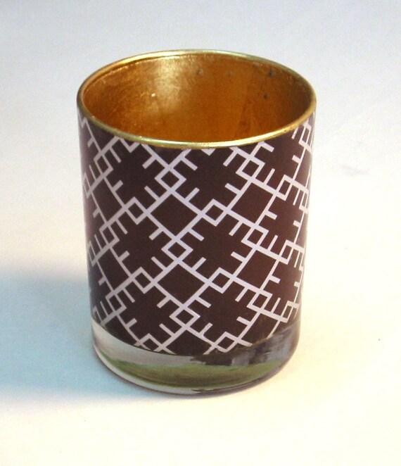 Pen Cup, Monogram pattern E