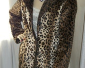MARKED DOWN Awesome Vintage Super Soft Faux Leopard Car Coat Incredibly Soft Size M/L 8/10/12/14 Super Classic Timeless Style