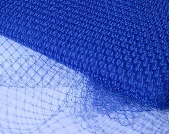 Royal Blue Millinery Hat Veiling