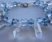 Glitter in Blue Ice  Bracelet