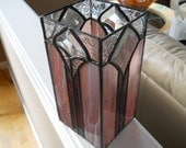Purple Glass Vase/Candle Holder