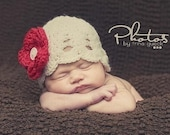 NEWBORN Baby Hat Beanie - INCLUDES 5 INTERCHANGEABLE FLOWERS - YOU CHOOSE YOUR COLORS