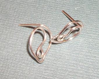 Leafy Sterling Silver  Ear Studs