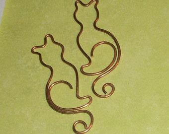 Copper Cat Charm Scrapbook 4pc