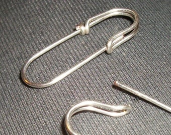 Handmade Silver Plate Open Loop Safety pin