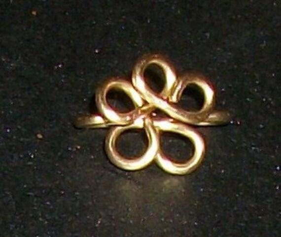 Brass Floral Wire Jewelry Bail 2