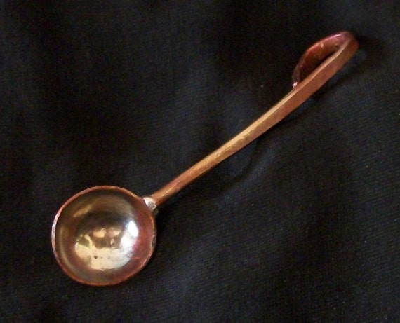 Copper Tiny Spice Spoons, herb spoon, salt spoon, Steampunk 2