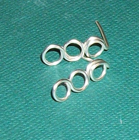 Little Circles Ear Studs Sterling Silver