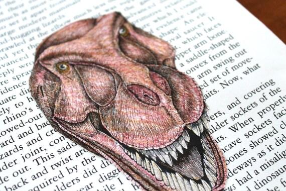 T-Rex Altered Art Piece