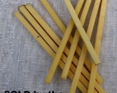 Vintage Bakelite Catalin Square Rods in a Lemon- Yellow color