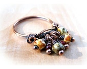 Wire Wrap Lesson Bead Dangle Ring Tutorial PDF
